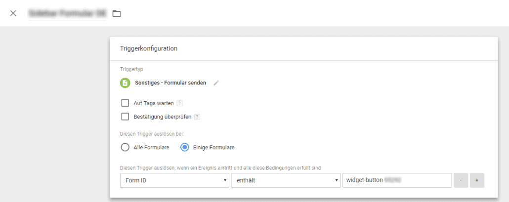 Google Tag Manager - Form Tracking Trigger
