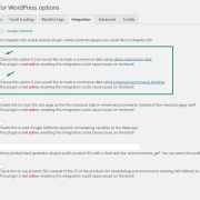 Google Tag Manager WooCommerce Setup Screen