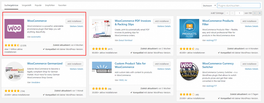 WooCommerce Plugins Installation