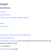 Google Richtlinien Website Texte