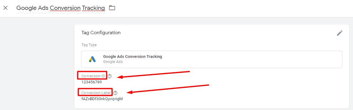 Conversion Tracking Tag