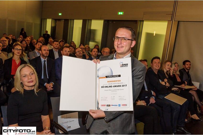 Christoph Zauner Online Award 2017