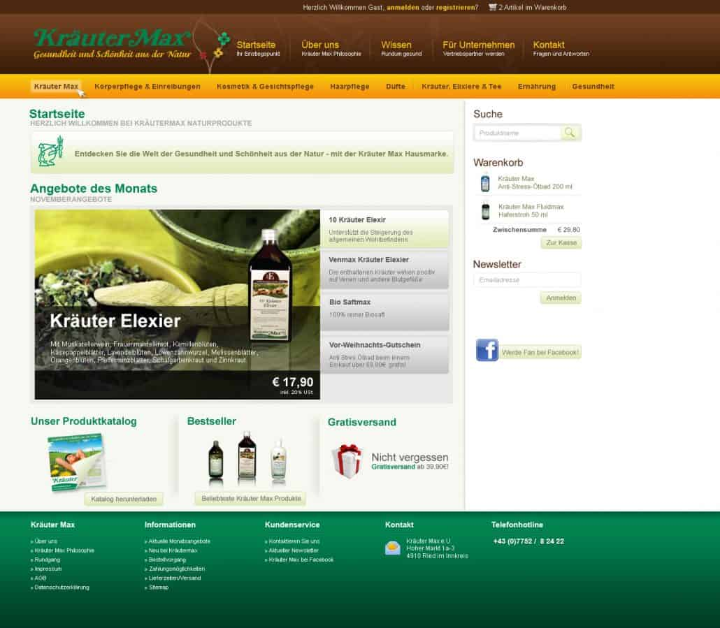 Kräutermax Webshop alt