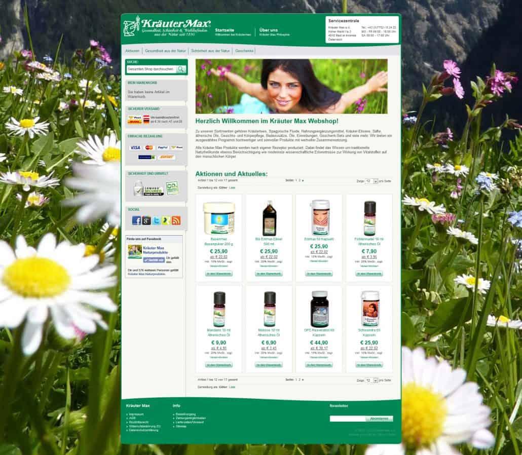 Kröutermax Webshop Magento 1