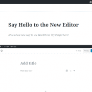 WordPress Gutenberg Oberfläche