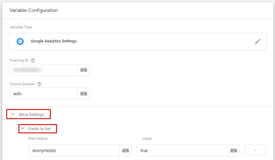 GA settings gtm